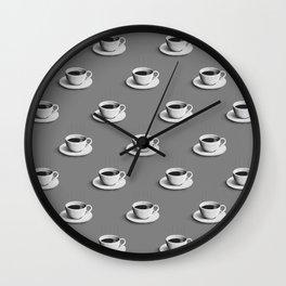 Coffee Cup | Grey Wall Clock