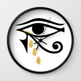 ALL SEEING CRY - Eye of Horus Wall Clock