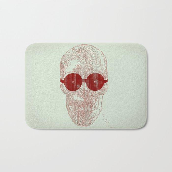 Unravel skull Bath Mat
