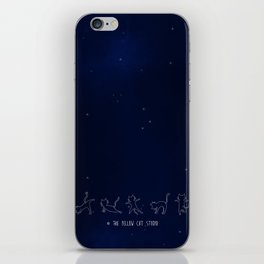 Yoga cats under the starry sky ! iPhone Skin