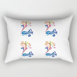 Colorful Bird Swan Nature Art Design Feathers Animal Picture Birdy Artistically Ornament Gift Idea Rectangular Pillow