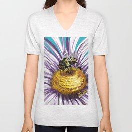 Wasp on flower 3 Unisex V-Neck
