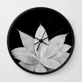 Gray Agave on Black #2 #tropical #decor #art #society6 Wall Clock