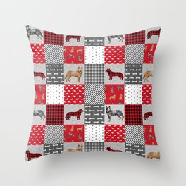 Australian Cattle Dog cheater quilt pattern dog lovers by pet friendly Throw Pillow