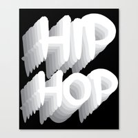 hip hop Canvas Prints featuring Hip Hop by Eleni Dreamel