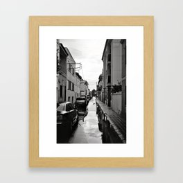 Flooded Street Framed Art Print