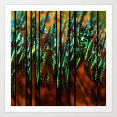 Peacock Mosaic Art Print