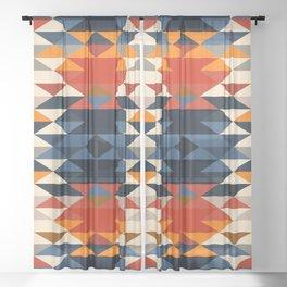 Southwestern Diamonds Sheer Curtain