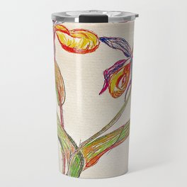 painted orchid Travel Mug
