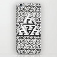 escher iPhone & iPod Skins featuring Escher Pattern by HeroStatus