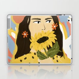 Sunflowers In Your Face Laptop & iPad Skin