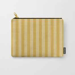 Large Two Tone Spicy Mustard Yellow Cabana Tent Stripe Carry-All Pouch