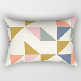 Floating Triangle Geometry Rectangular Pillow