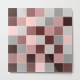 Shades of Burgundy Metal Print