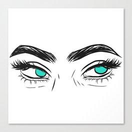 Unamused eyes Canvas Print