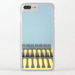 A very simple still life with forks Clear iPhone Case