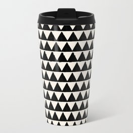 BLACK AND CREAM TRIANGLES Travel Mug