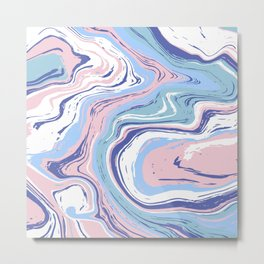 Abstract marble agate slice Metal Print