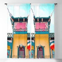 Travel photography Chinatown Los Angeles V temple front Blackout Curtain