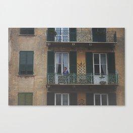 ITALY BALCONY Canvas Print