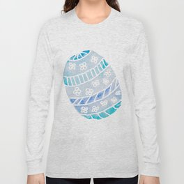 Easter Egg in Blue and Teal Long Sleeve T-shirt