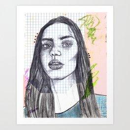 Mixed Media Sketch Art Print