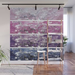 Van Gogh Almond Blossoms Blue Purple Orchid Wall Mural