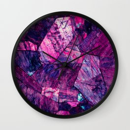 Labradorite Purple Wall Clock