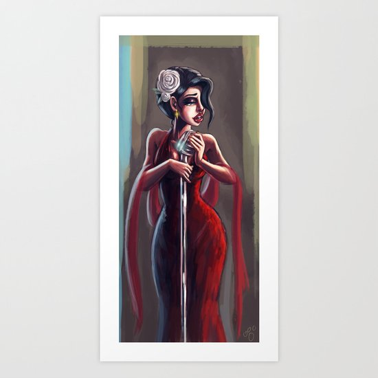 Lady Sing the Blues Art Print