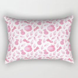 Pink Watercolour Pomegranate Simple Pattern Rectangular Pillow
