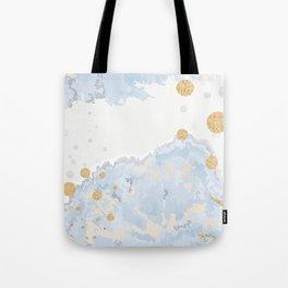 Blue & Gold Art Tote Bag