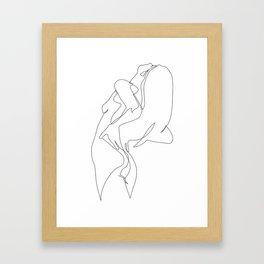 One line nude - e 5 Framed Art Print