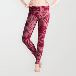 Radial Block Print in Magenta Leggings