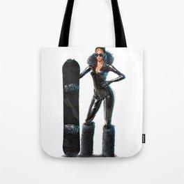 Snowboard babe - All black Tote Bag