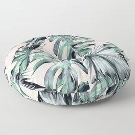 Island Love Coral Pink + Green Floor Pillow