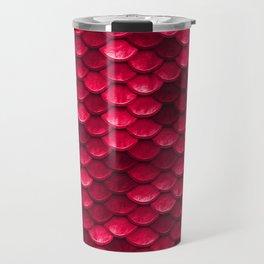 Ruby Red Mermaid Tail Scales Travel Mug