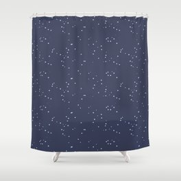 Dark Gray Blue Shambolic Bubbles Shower Curtain