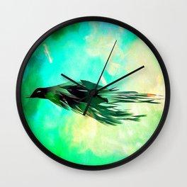 Flight to the Light Wall Clock