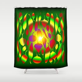 Chili Pepper Vortex Shower Curtain