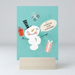 Very Sweary Holidays: Snowmen Fucking Love Christmas Mini Art Print