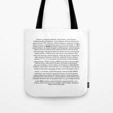 ARTIST in 91 languages Tote Bag