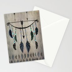 Bow, Arrow, and Feathers Stationery Cards