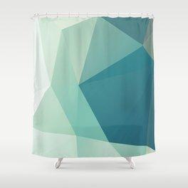 Lagoon – modern polygram illustration Shower Curtain