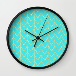 Festive Chevron Pattern Wall Clock