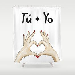 T + Y Shower Curtain