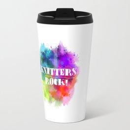 Knitters Rock! Travel Mug