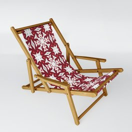 Snowflakes on Red Sling Chair