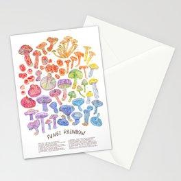Wild Mushroom Rainbow Stationery Cards