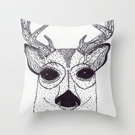Baby Buck Throw Pillow