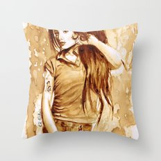 A little Amy in my coffee Throw Pillow